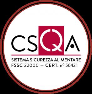 certificazione sicurezza alimentare fssc 22000 cert 56421