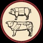 disegno vitello e suino tagli carne