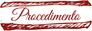 titolo procedimento scritta rossa con sfondo bianco