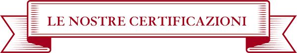 titolo le certificazioni rosso